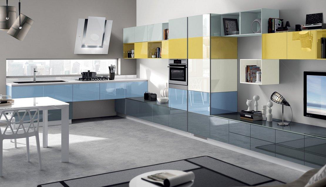 Cocinas modernas llenas de colorido scavolini ii for Cocinas actuales modernas