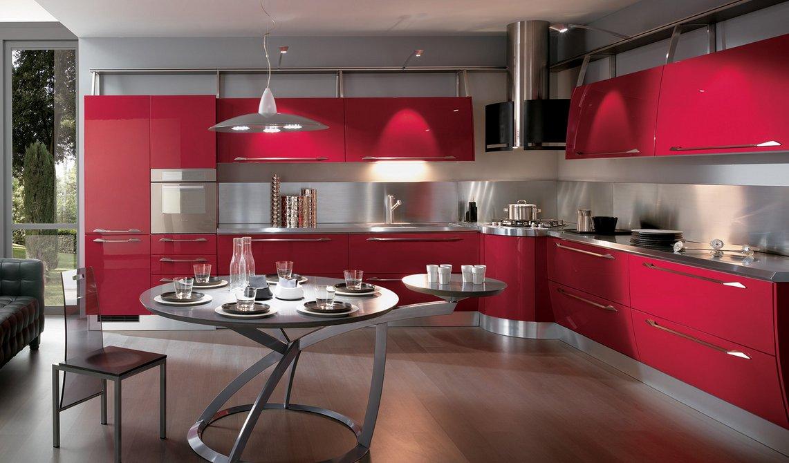 Cocinas modernas llenas de colorido Scavolini. Decoración del hogar.