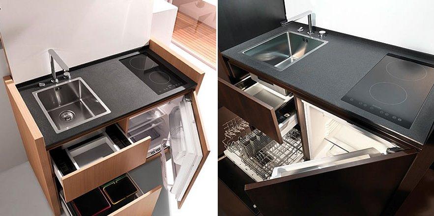 Cocinas compactas de la firma Kitchoo. Decoración del hogar.