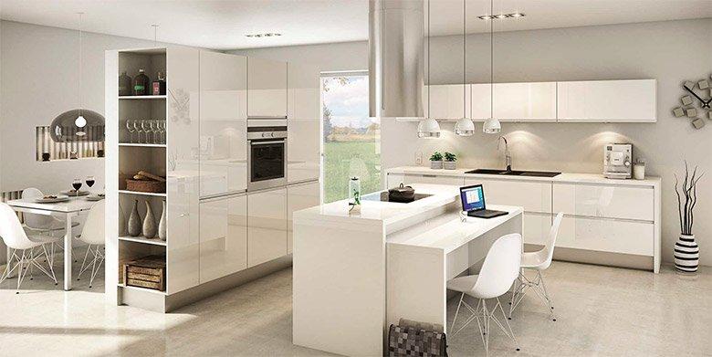 Iluminacion cocina moderna great cocina moderna blanco brillo sin tiradores encimera silestone - Iluminacion en cocinas modernas ...