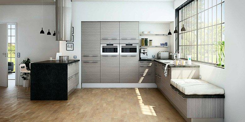 Cocinas modernas de la firma hygena decoraci n del hogar for Cuisine bois gris moderne