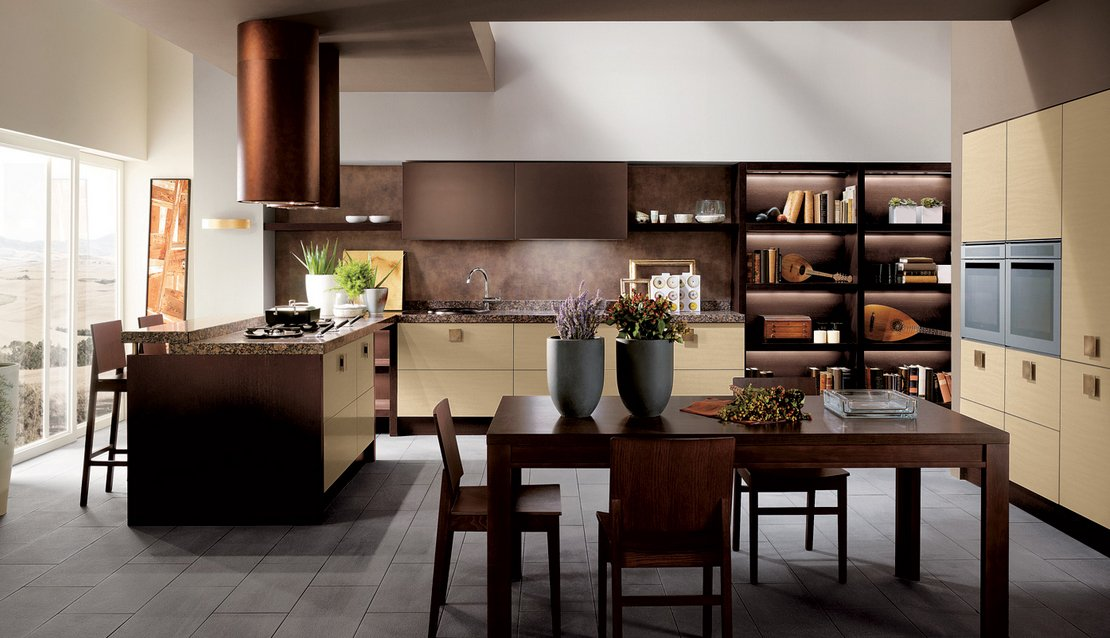 Cocinas modernas coloridas scavolini cocinas modernas - Cocinas modernas de colores ...