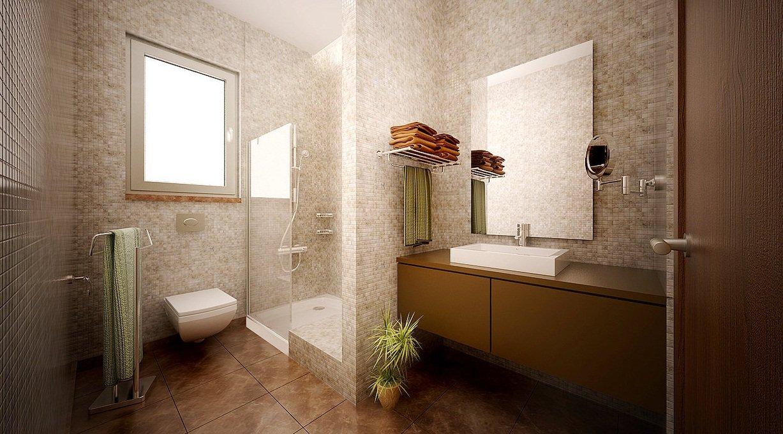 El color marr n en la decoraci n decoraci n del hogar for Brown beige bathroom ideas