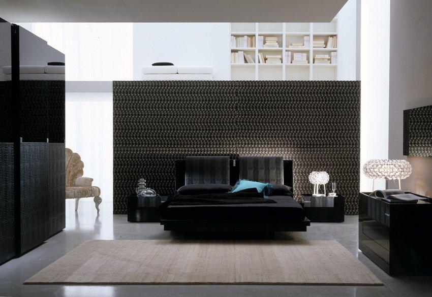 El color negro en la decoraci n de interiores decoraci n for Casa moderna black walnut luxury vinyl plank