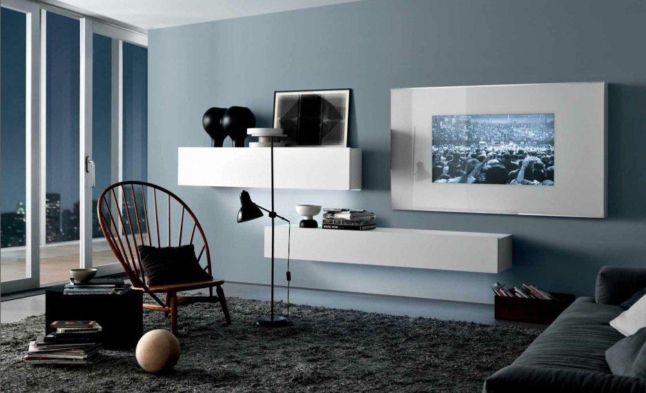 C mo combinar el gris en la decoraci n decoraci n del hogar - Salon bleu et gris ...