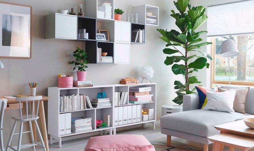 Cómo ordenar el salón con muebles Ikea. Decoración del hogar.