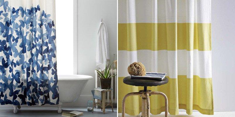 Cortinas de ducha de estilo retro moderno decoraci n del for Cortinas para bano modernas