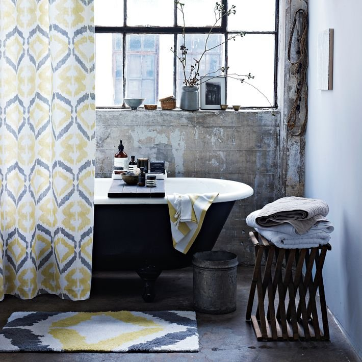 Cortinas De Baño Vintage:Cortinas de ducha de estilo retro moderno Decoración del hogar