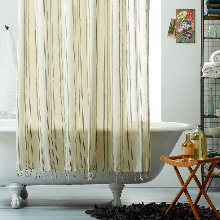 Cortinas de ducha de estilo retro moderno decoraci n del - Cortinas de duchas ...