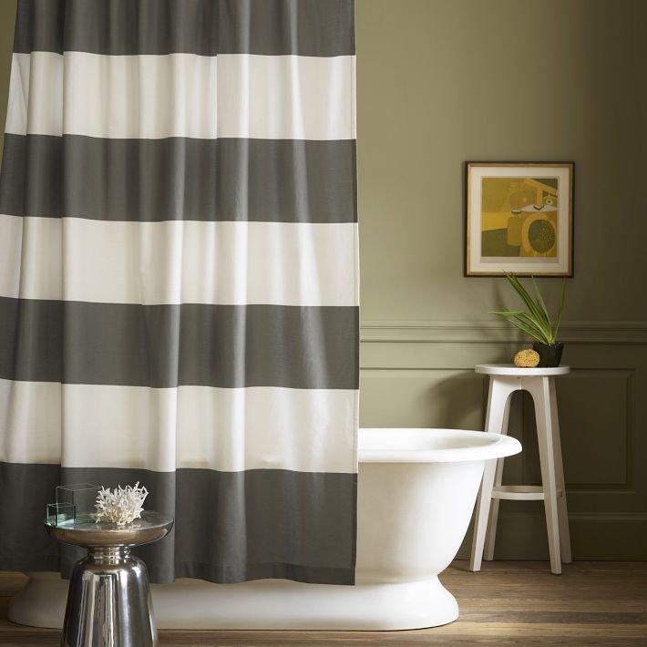 Cortinas de ducha de estilo retro moderno decoraci n del for Estilos de cortinas