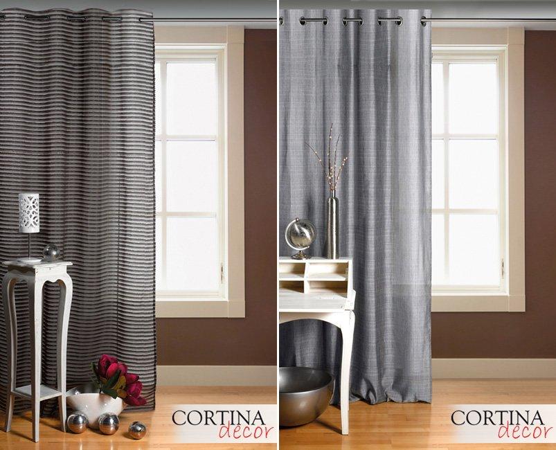 Cortinas de tela fabricadas a medida decoraci n del hogar for Cortinas en tonos grises