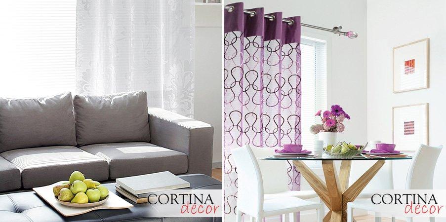 Cortinas de tela fabricadas a medida decoraci n del hogar for Cortinas de tela