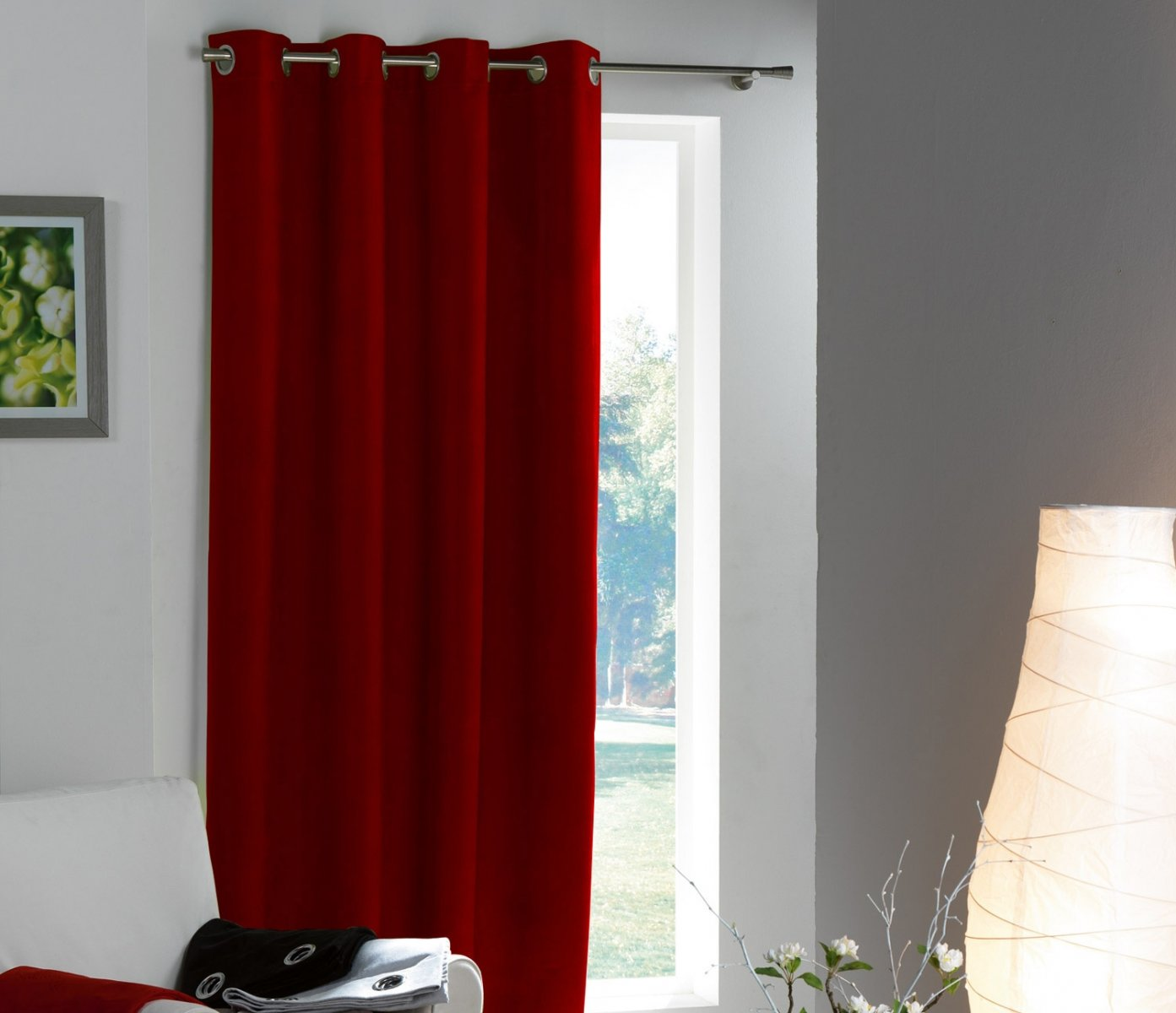 Cortinas para una decoraci n roja decoraci n del hogar for Decoracion del hogar moderno