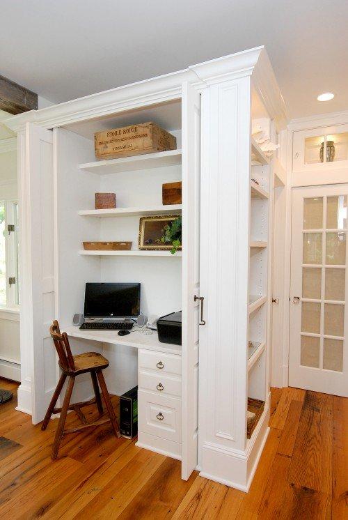 Darlene Artesanato Uberlândia Telefone ~ Crear un espacio de trabajo en el armario empotrado Decoración del hogar