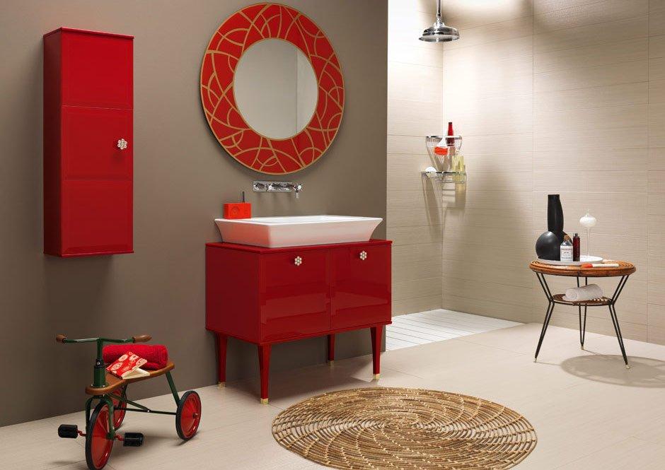 Cuarto de baño Vintage. Decoración del hogar.