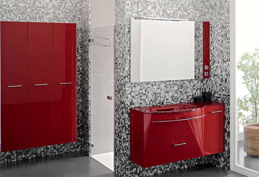 Baño Blanco Con Rojo:Yo te he mostrado esta colección en rojo, pero la tienes en otros
