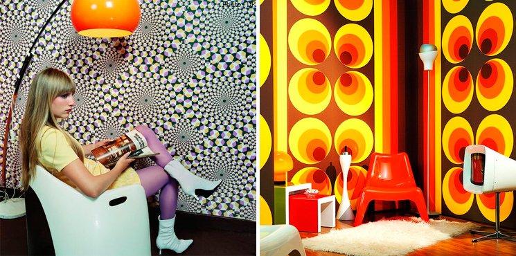 Ideas para una decoraci n retro al estilo de los a os 60 decoraci n del hogar - Papel pintado anos 60 ...