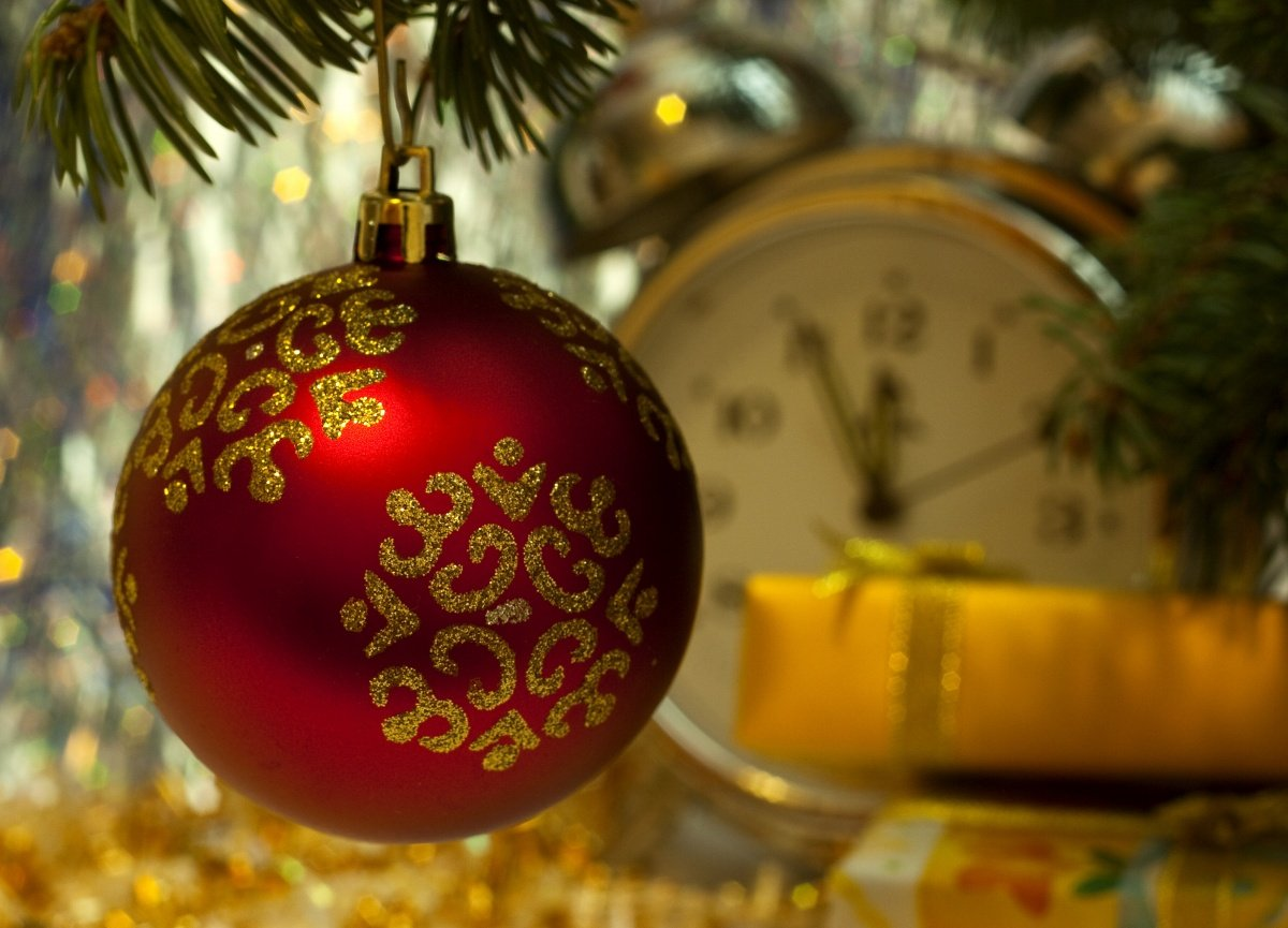 decoracin de un rbol de navidad tradicional