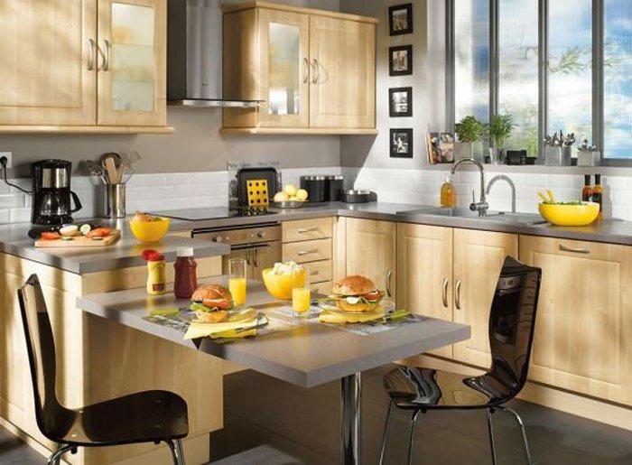 Consejos para elegir la mesa de la cocina decoraci n del for Cocina americana pequena moderna
