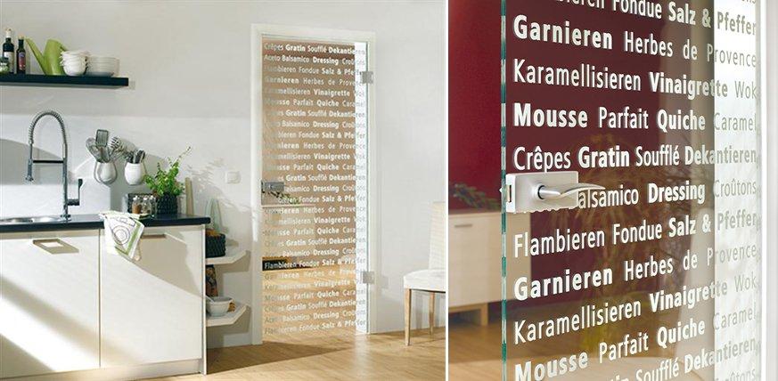 Puertas de cristal decorativo para la cocina decoraci n for Vidrios decorados para puertas interiores