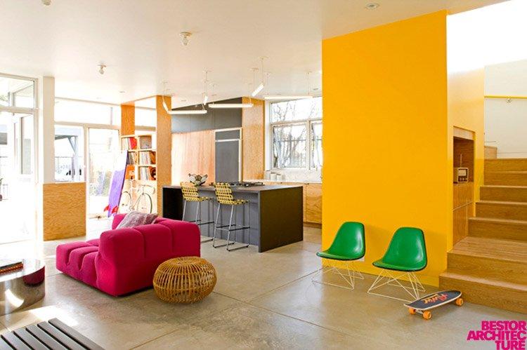 Decoraci n colorida por bestor architecture decoraci n for Hotel design genes