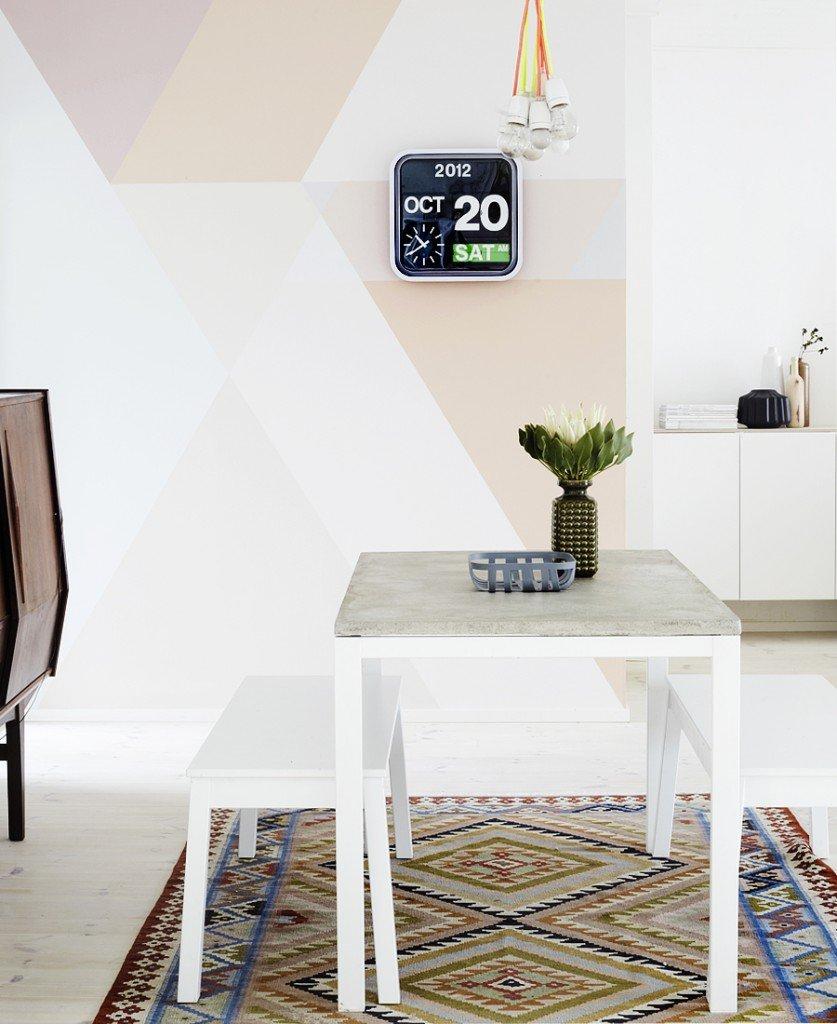 Decoraci N De Paredes Con Formas Geom Tricas Decoraci N Del Hogar  # Muebles Geometricos