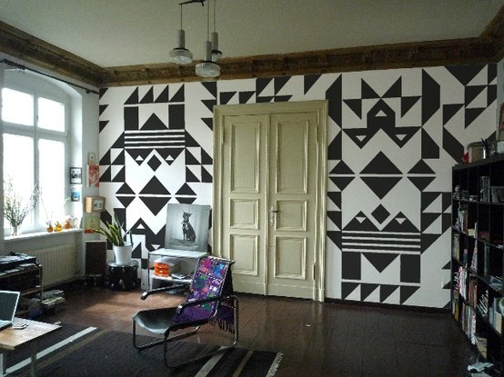 Paredes decoradas con formas geom tricas decoraci n de paredes con formas geom tricas - Decoracion de paredes fotos ...