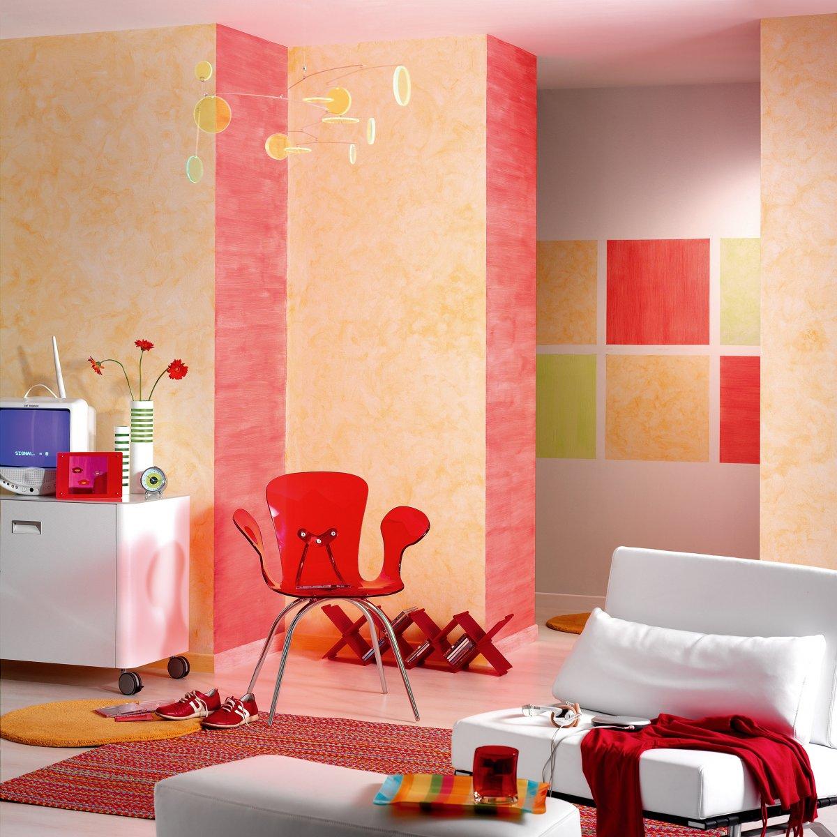 Decoraci n de paredes con formas geom tricas decoraci n del hogar - Paredes de colores decoracion ...