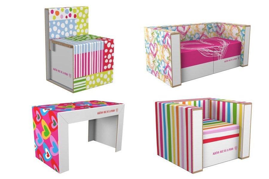Muebles de cart n dise ados por agatha ruiz de la prada for Como hacer adornos decorativos para el hogar
