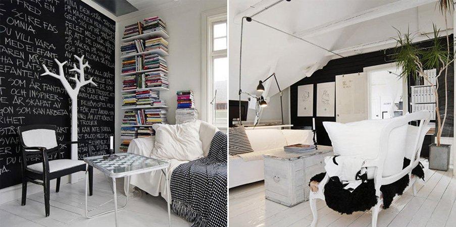 Ideas para una decoraci n en blanco y negro decoraci n - Papel de pared blanco y negro ...