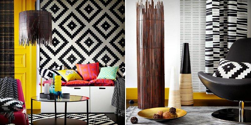 Estilo tnico de la mano de ikea decoraci n del hogar for Ikea decoracion de interiores