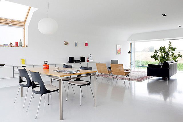 decoracin minimalista basada en el blanco