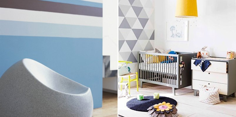 Decoraci n de paredes con formas geom tricas decoraci n - Decoracion de pintura en paredes ...