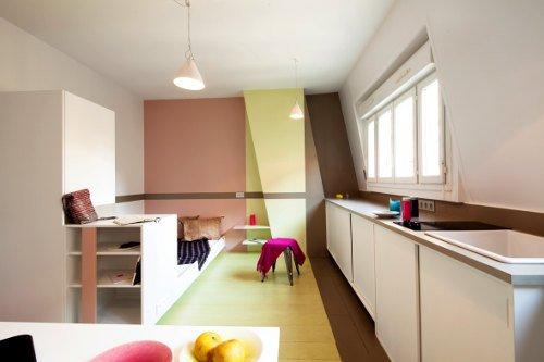Decoraci n de un peque o apartamento en colores pastel for Colores para apartamentos pequenos