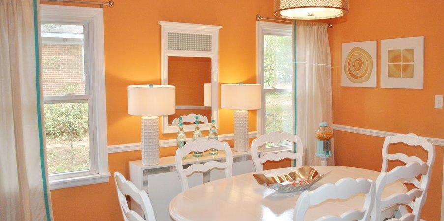Estimula tu decoración con el color naranja. Decoración del hogar.