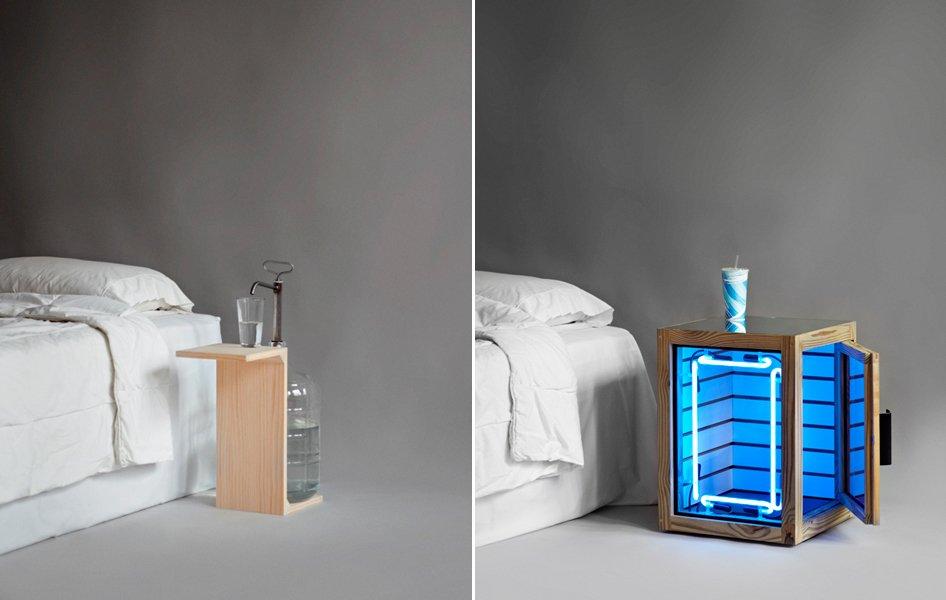 Mesitas de noche para el proyecto the pin up nightstands - Mesitas de noche de diseno ...