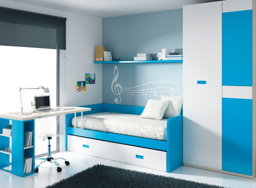 Reglas b sicas para crear un dormitorio para ni os - Habitacion con literas para ninos ...