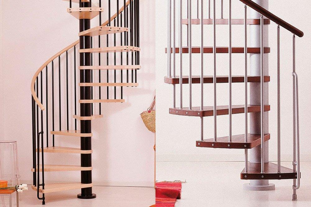 Escaleras de caracol, ideales para dúplex sin espacio. Decoración ...