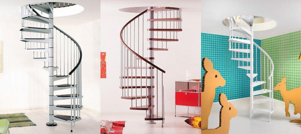 escaleras de caracol ideales para dplex sin espacio