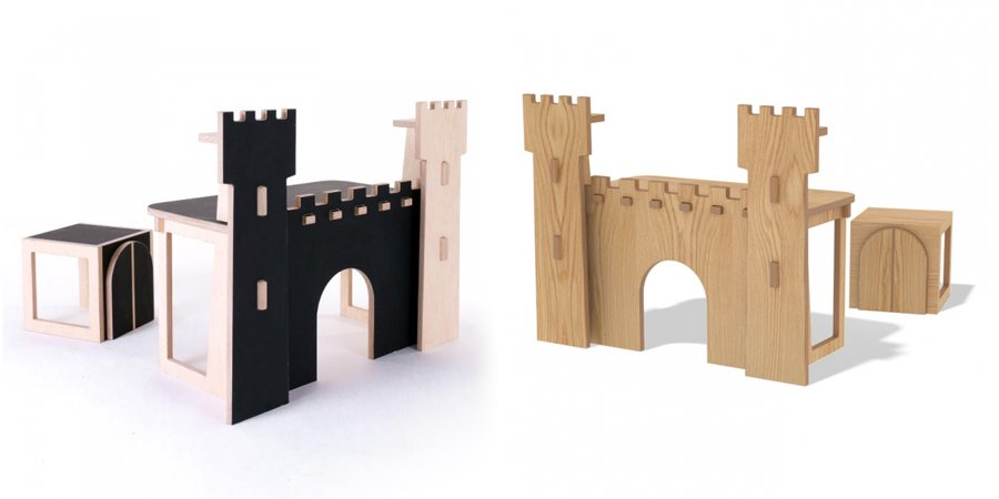 Escritorio para ni os con forma de castillo decoraci n - Castillos para ninos de infantil ...