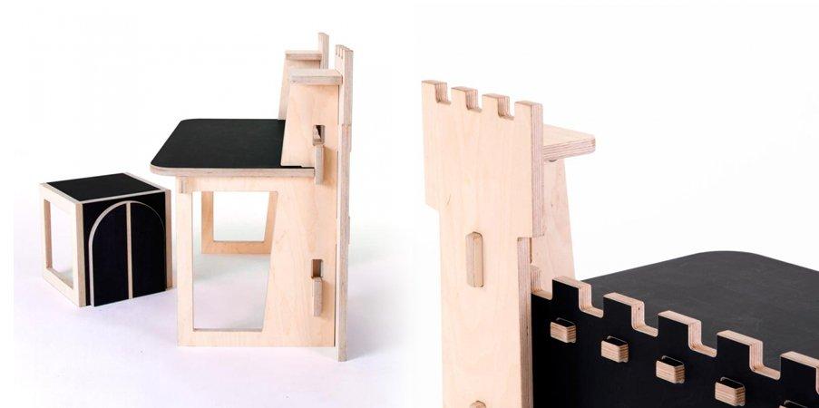 escritorio para nios con forma de castillo