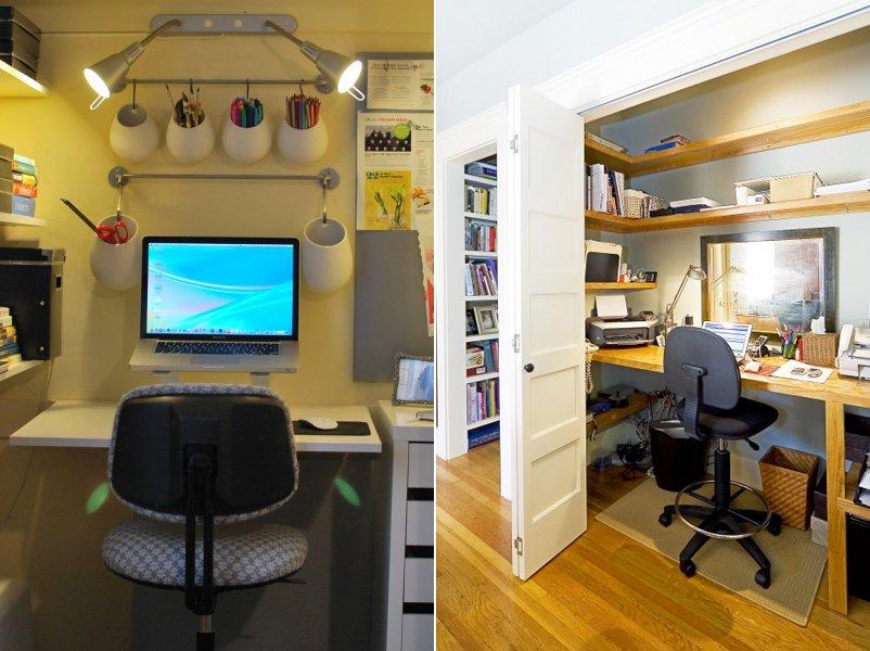 Crear un espacio de trabajo en el armario empotrado decoraci n del hogar - Despachos en casa decoracion ...