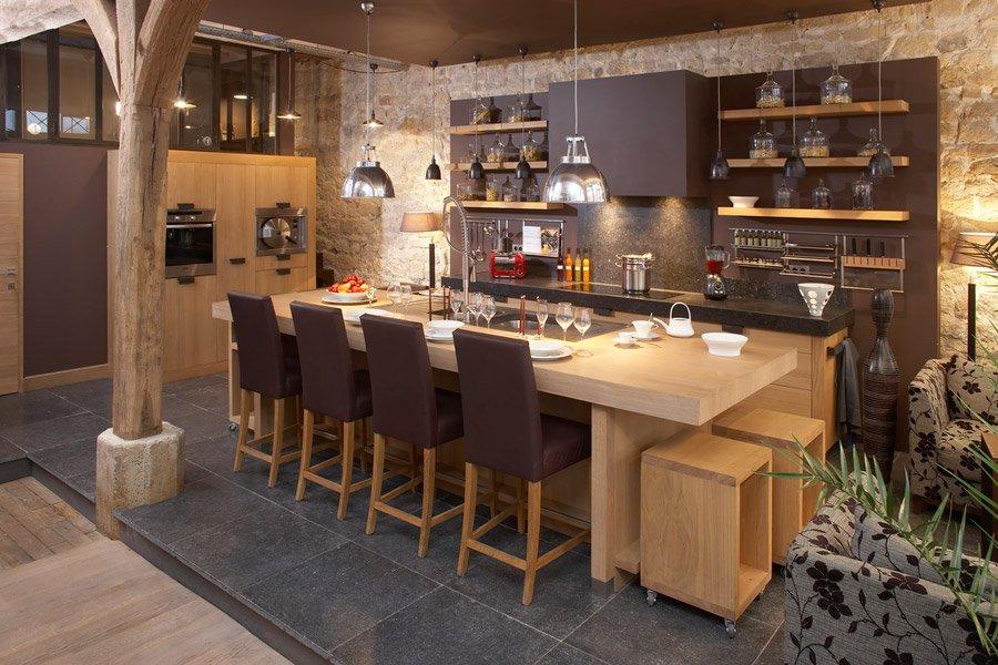 Qu estilo quieres para tu cocina decoraci n del hogar - Cuisine contemporaine en bois massif ...