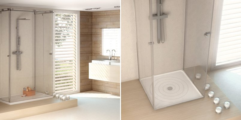 Dise os de cuartos de ba o silestone decoraci n del hogar for Diseno de cuartos de bano con ducha