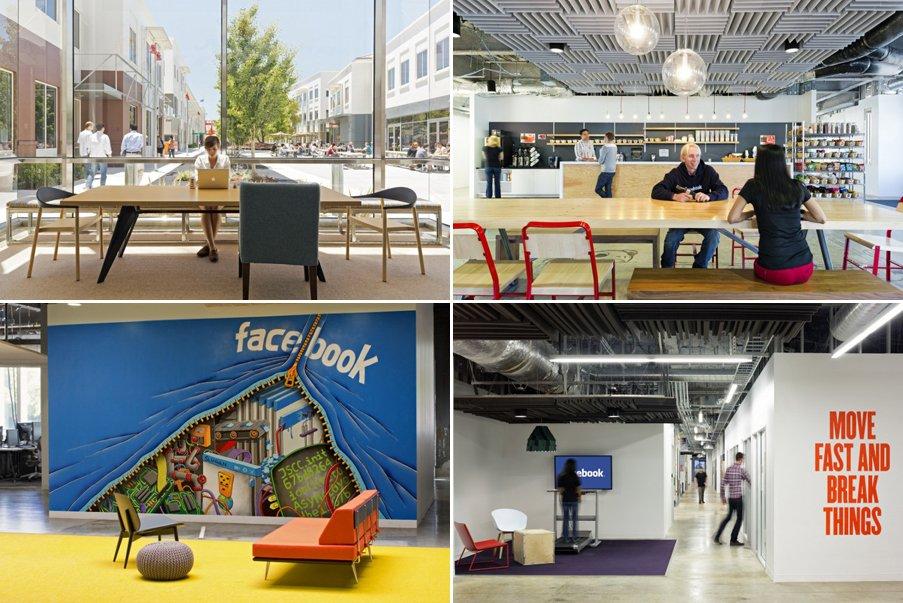 fotos de las oficinas de facebook en menlo park