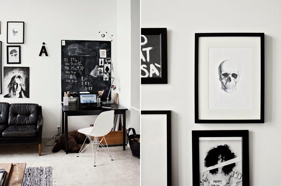 El estilo chic de una decoraci n en blanco y negro for Cuarto negro con blanco