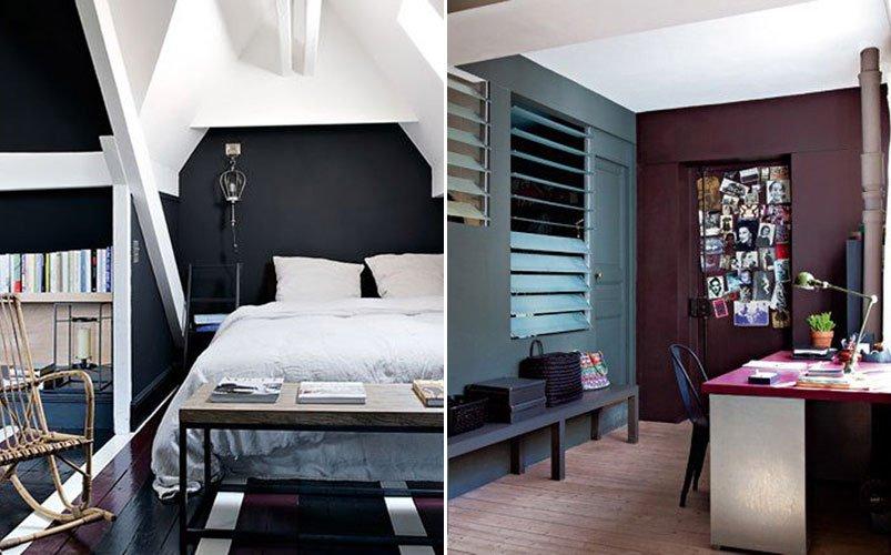 fotos de inspiracin para una decoracin de paredes con colores oscuros