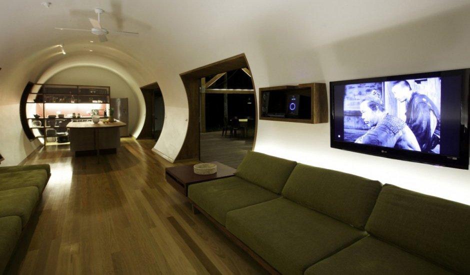 Cabaña de lujo en australia. decoración del hogar.