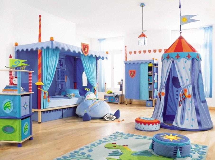 Habitación infantil de caballero de la firma Haba. Decoración del hogar.