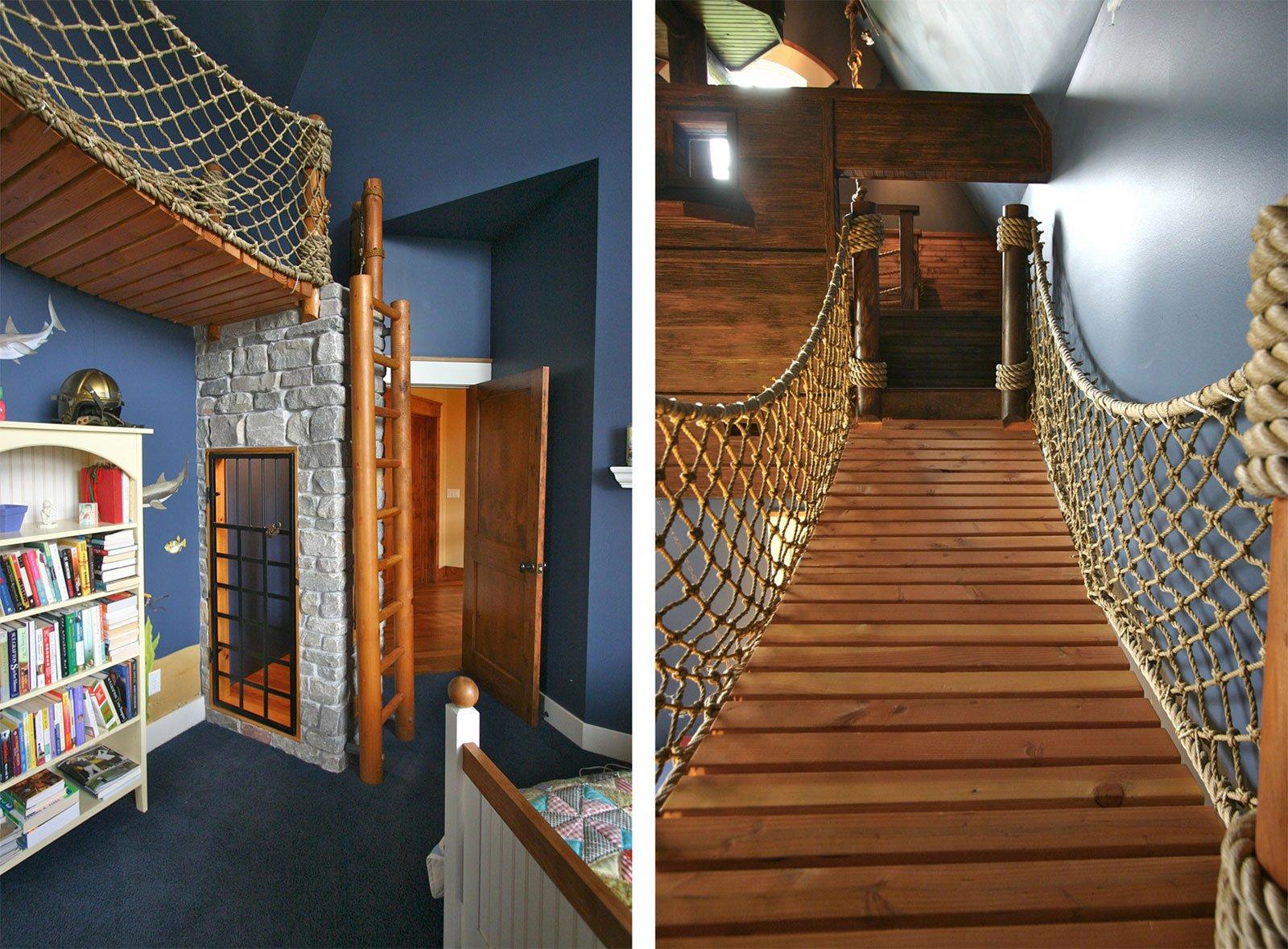 Habitaci n infantil con decoraci n pirata decoraci n del for Decoracion barcos interiores